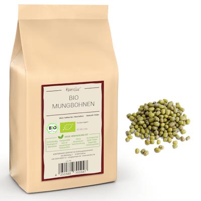 Bio Mungbohnen getrocknet, Hülsenfrüchte ohne Zusätze
