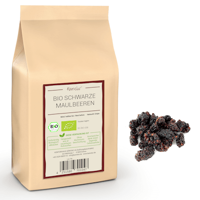 Bio Maulbeeren schwarz, ohne Zusätze und getrocknet