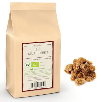 Getrocknete Bio Maulbeeren weiß und ohne Zusätze
