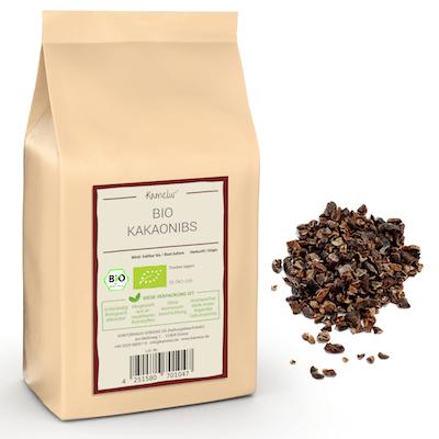 Bio Kakao Nibs Criollo, ungeröstet und ohne Zusätze