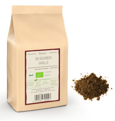 Bio Bourbon Vanillepulver ohne Zusätze