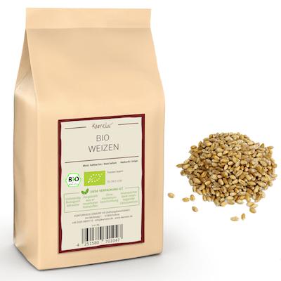 Ganze Bio Weizen Getreidekörner von Kamelur