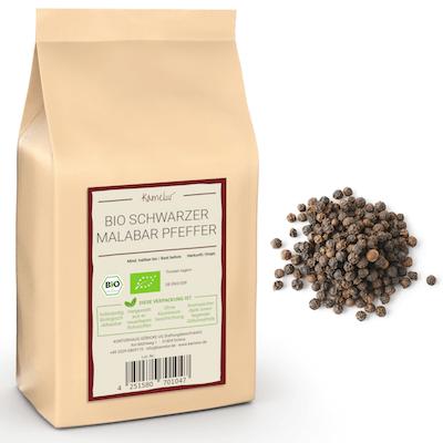 Schwarzer Malabarpfeffer in bester Bio-Qualität - der Tigerpfeffer