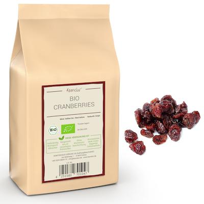 Unsere BIO Cranberries schonend getrocknet und ohne Zusätze