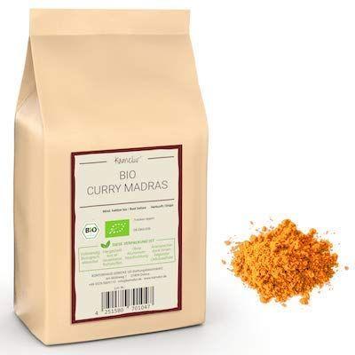 Unser Madras Curry mit Gewürzen in bester Bio-Qualität