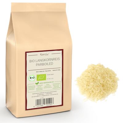 Langkorn-Reis parboiled in Bio-Qualität