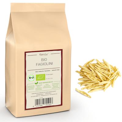 Bio Fagiolini aus Hartweizen, Bio Pasta ohne Zusätze