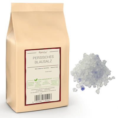 Blaues Salz granuliert, ohne Zusätze