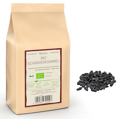 Ganze Bio Schwarzkümmel Samen, ohne Zusätze