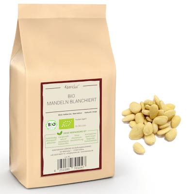 Bio Mandeln blanchiert von Kamelur, ohne Zusätze