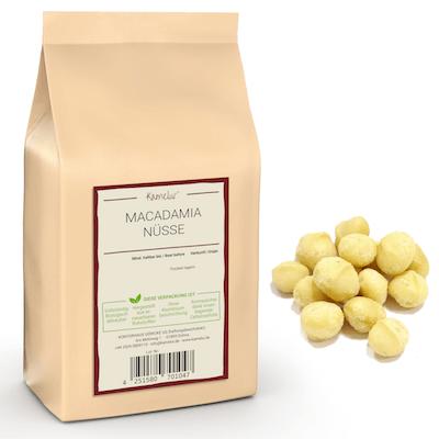 Macadamia Nüsse ganz von Kamelur, ungeröstet und ohne Zusätze