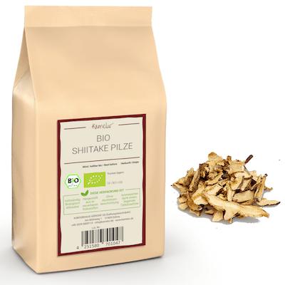 Getrocknete Shiitake Pilze Bio in Scheiben & ohne Zusätze