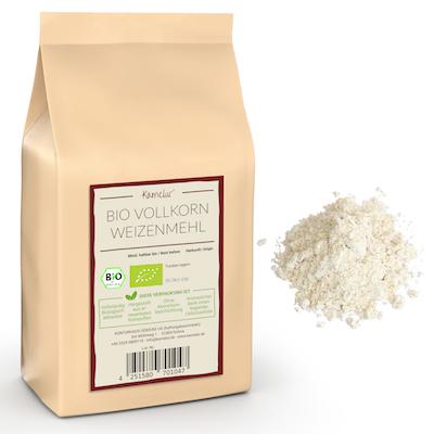 Bio Weizenvollkornmehl ohne Zusätze, Bio Mehle