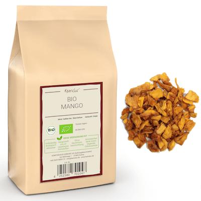 Mango als leckere Trockenfrüchte, in bester Bio-Qualität